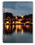 Meredith Bay On Christmas Night Spiral Notebook