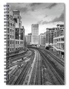 Merging Tracks Spiral Notebook