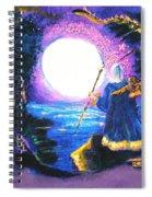 Merlin's Moon Spiral Notebook