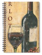 Merlot Wine And Grapes Spiral Notebook