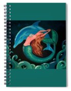 Mermaid And Dolphin  Spiral Notebook
