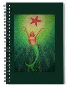 Mermaid Art- Mermaid's Starlight Spiral Notebook