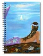 Mermaid Beauty On The Beach Spiral Notebook
