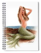 mermaid On The Shore Spiral Notebook