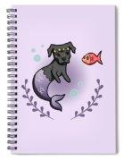 Mermaid Pit Bull 2 Spiral Notebook