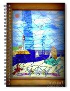Mermaid Window  Spiral Notebook