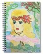 Mermaid With Music  Spiral Notebook