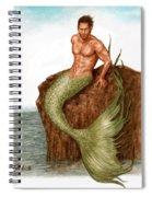 Merman On The Rocks Spiral Notebook
