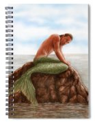 Merman Resting Spiral Notebook