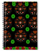 Merry And Happy  Candy With Flair Spiral Notebook