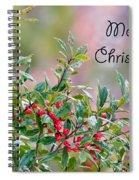 Merry Christmas - Berries Spiral Notebook