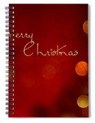 Merry Christmas Card - Bokeh Spiral Notebook
