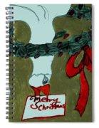 Merry Christmas Goose Spiral Notebook