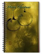 Merry Christmas Greetings In Soft Yellow Spiral Notebook