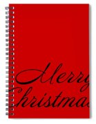 Merry Christmas In Black Spiral Notebook