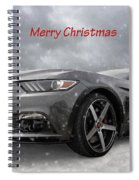 Merry Christmas Mustang S550 Spiral Notebook