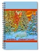 Merry Christmas Polar Bears Spiral Notebook