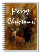 Merry Christmas Reindeer 2 Spiral Notebook