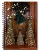 Merry Christmas Trees Spiral Notebook