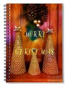 Merry Christmas Trees Colorful Spiral Notebook