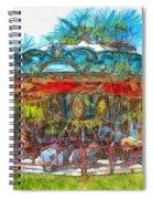 Merry Go Round Pencil Spiral Notebook
