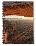 Mesa Arch Sunrise 4 - Canyonlands National Park - Moab Utah Spiral Notebook