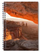 Mesa Arch Sunrise 5 - Canyonlands National Park - Moab Utah Spiral Notebook