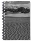 Mesquite Dunes Black And White Spiral Notebook