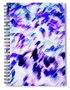 Mess In Blue Tones Spiral Notebook