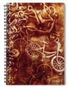 Messy Bike Workshop Spiral Notebook