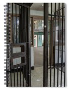 Metal Bars Leading Into Cellblock In Prison Spiral Notebook