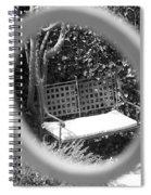 Metal Bench In Sedona Spiral Notebook