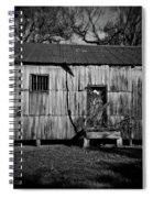 Metal Building On The Grounds At Fort Delaware Near Delaware City Spiral Notebook