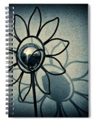 Metal Flower Spiral Notebook