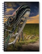Metal Monster Emerging From The Earth Spiral Notebook