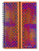 Metal Panel Abstract Spiral Notebook