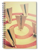 Metal Paper Planes In Target, Business Aims Spiral Notebook