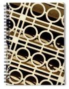 Metal Pattern Spiral Notebook
