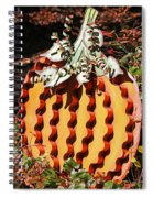 Metal Pumpkin Spiral Notebook
