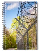 Metal Sharp Barbed Wire Spiral Notebook