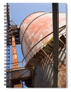 Metal Silos Spiral Notebook