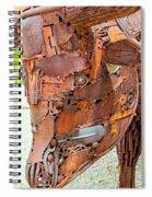 Metal Steer  Spiral Notebook