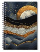 Metallic Mountains Spiral Notebook