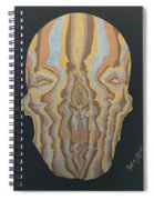 Metallic Skull Spiral Notebook