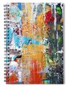 Metallic Winter Spiral Notebook