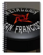 Metallica Bar Stool Spiral Notebook