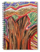 Metamorphosis Of The Great Tree Into Petrified Wood Spiral Notebook