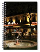 Metro Cafe Paris Spiral Notebook