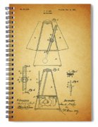 Metronome Patent Spiral Notebook