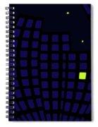 Metropolis At Night Spiral Notebook